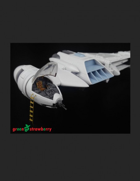 A/SF-01 B-Wing Starfighter Greenstrawberry-most realistic sci-fi and photoetch models