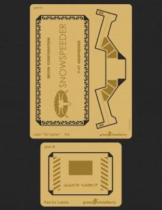 "Label ""Snowspeeder"" - 06018-N/A Greenstrawberry-most realistic sci-fi models"