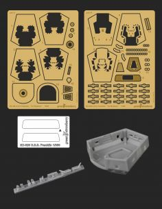NX-326 U.S.S. Franklin Greenstrawberry-most realistic sci-fi and photoetch models