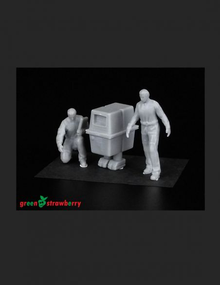 Hangar crew vol.III -Greenstrawberry-most realistic sci-fi and photoetch models