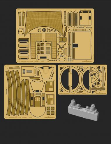 Photo etch detail set with resin for U.S.S. Enteprise NCC-1701-B from Star Trek Generations