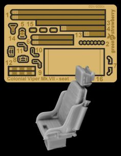 Resin detail set for Colonial Viper Mk.VII with photo etch.