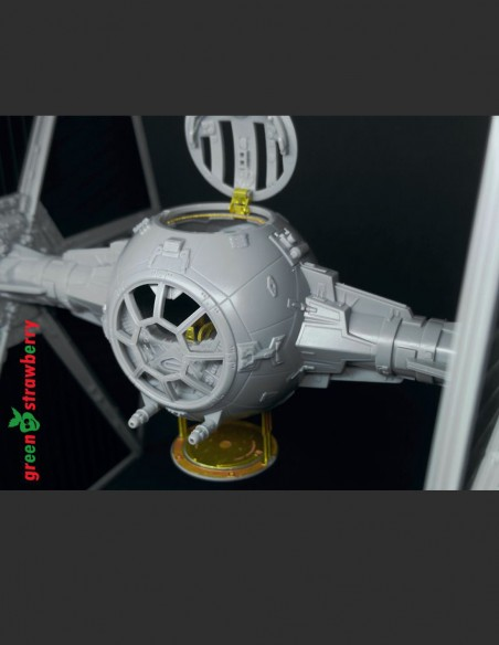Photo etch detail set for TIE Fighter from the original Star Wars trilogy series from Bandai model kit in 1/72 scale.