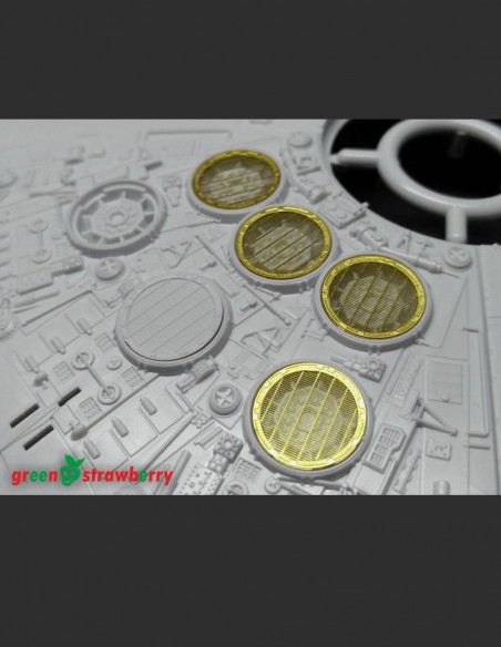Photo etch high detail set for millennium falcon exhaust grills for Bandai model Star Wars