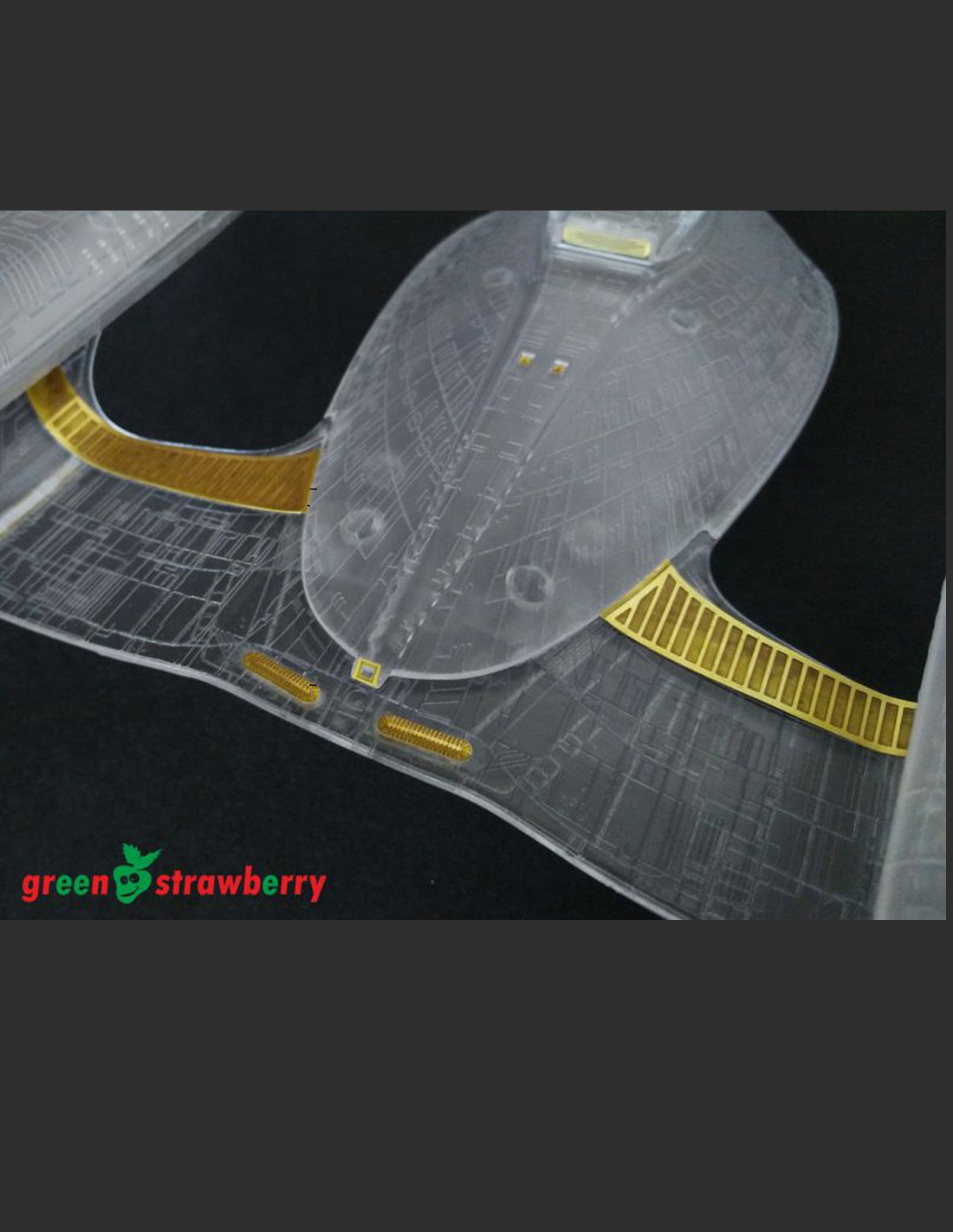 Star Trek Enterprise 1701 D 1//1400 Scale Primary Secondary Hull Phaser Strip Set
