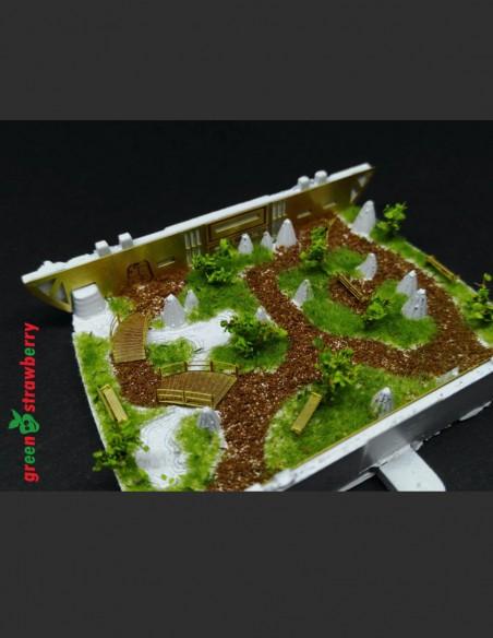 New version of arboretum for U.S.S. Enterprise NCC-1701 refit and U.S.S. Enterprise NCC-1701-A in scale 1/350