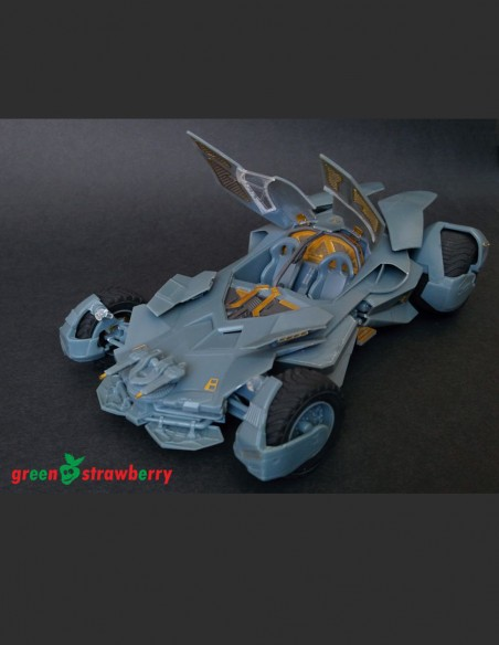 Photoetch detail set and resin parts for Moebius Batmobile model kit from Batman vs Superman movie in 1/25 scale.