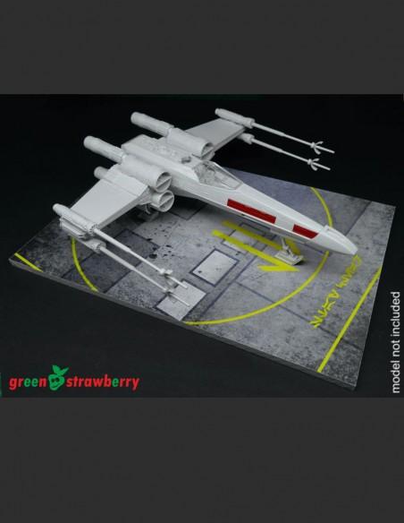 135x200mm Star Wars rebel hangar deck display base.