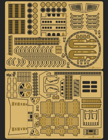 Photo etch detail set for refit U.S.S Enterprise NCC-1701 Polar Lights model kit in 1/350 scale